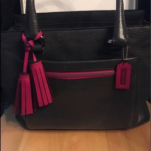 Coach Candace Carryall Berry/grey tassels+ Insert